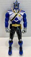 2011 Bandai Saban's Morphin Power Rangers Samurai Blue Spin Switch Figure USED
