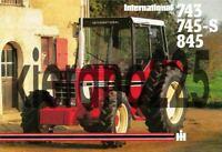A3 International 743 745 845 IH Case Vintage Tractor Brochure Poster Leaflet