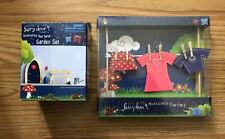 The Irish Fairy Door Company - Washing Line With Female Clothes & Garden Set