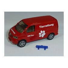 """Siku 1338 VW T5 Transporter """"Feuerwehr Tierrettung"""" Sondermodell Werbung NEU!  °"""
