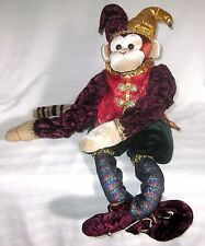 "FOLK-ART MONKEY PLUSH UNIQUE 29"" JESTER DESIGN"