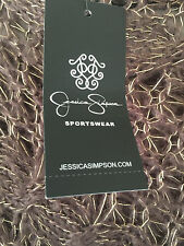 NWT Jessica Simpson Womens  BROWN & Gold Crochet Pullover Sweater SIZE XS