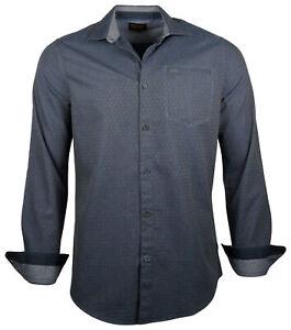 PME Legend Herren Hemd PSI186209 Shirt langarm Kent Kragen Freizeithemd