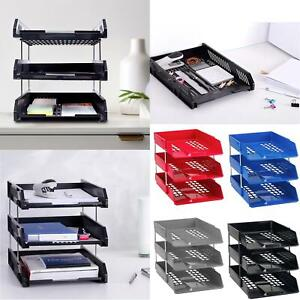 A4 Letter Trays + Risers Document Letter Paper Filing Organiser Mesh Holder