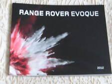 RANGE ROVER EVOQUE 2012 grande formato opuscolo di 76 pagine + accessori.