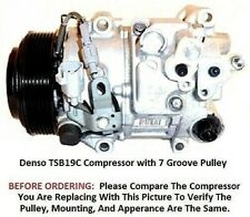 Toyota Lexus  3.5L  2010 - 2016   OEM Denso TSB19C  7 Groove AC Compressor