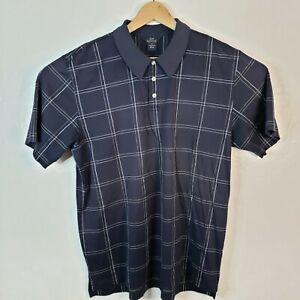 Brooks Brothers 346 Men's XL Polo Shirt Blue White Squares