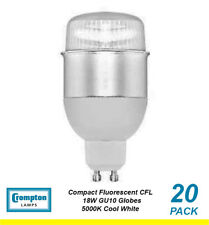 20 x 18W GU10 Compact Fluorescent Lamps / Globes / Bulbs 5000K Cool White CFL
