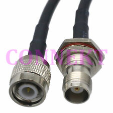 TNC male to TNC female nut bulkhead RG58 cable jumper pigtail 50cm