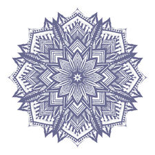 New Purple Mandala Design Sticker Decor Car, Van, Fridge, Laptop, Wall Art Decal