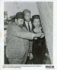 ANNE BAXTER DOUG MCCLURE SEBASTIAN CABOT CHECKMATE ORIGINAL 1962 CBS TV PHOTO