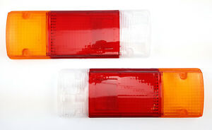 TAIL LIGHT LAMP LENS SUIT TOYOTA HILUX UTE TRAYBACK TABLETOP SET PAIR (2 pieces)
