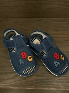 Unisex Toddler ABC Squeaky  Shoes Size 6 Color Blue Jeans
