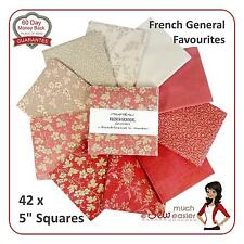 Moda French General Favourites Charm Pack vintage rare favorite reds Rouenneries