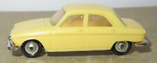 Old made in france 1966 micro norev oh 1/87 peugeot 204 light yellow #532