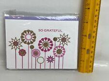 Hallmark Stationery Note Cards Flower Pink Gold Glitter Envelopes So Grateful