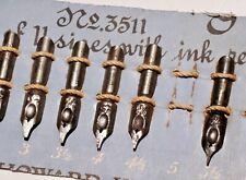 Vintage C. Howard Hunt Pen Co. Dip Nib Calligraphy Assortment - 9 Nibs - 1970's