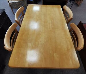 Vintage Mid Century Radomsko 1960's Dining Table with 4 Bentwood Chairs.