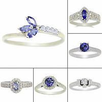 Tanzanite 925 Sterling Silver Ring Women Band Awesome Party Jewellery SJR350-PAR