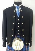 100% Blend Wool Doublet Military Tunic Sherrifmuir Kilt Jacket & Waistcoat