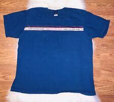 Vintage Tommy Hilfiger Mens XXL 2XL T Shirt Blue Flag Logo Short Sleeves