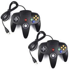 2Pack N64 Classic USB Controller Gamepad Joystick Game Controller for Nintendo64