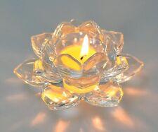 Handcrafted Crystal Lotus Flower Tea Light Holder Large Party/Wedding Decoration