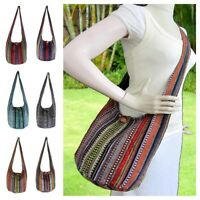 Aztec Crossbody Hippie Hobo Sling Bag Ikat Boho Shoulder Thai Hmong Purse Medium