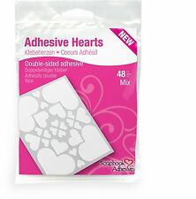 3L-Scrapbook Adhesives Hearts Clear-48 Pcs-Double Sided-093616012093