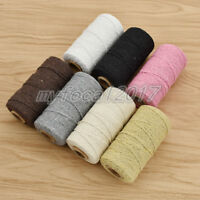 100 Yard Cotton Twisted Cord Rope Craft Macrame String DIY DIY Wrapping Supply