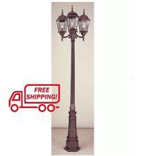 Lamp Post Outdoor Lighting 3-Light 8 Feet Large Pole Fixture Street Lantern