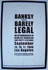 Banksy Sign Barely Legal A3 Sign Aluminium Metal Large