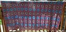 Beautiful Vintage Afghan Blanket Granny Square Dusty Rose 50x72 Handmade