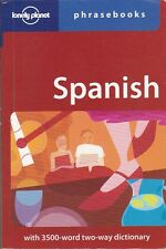 SPANISH PHRASEBOOK with 3500-word two-way dictionary - Lonely Planet - 2nd edit.