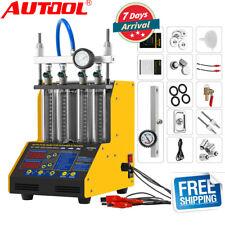 CT150 4 Cylinder Ultrasonic Fuel Nozzle Gasoline Injector Tester Cleaner 110V