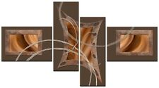 FLARE 4t Brown Large wall art canvas print artwork framed home living room