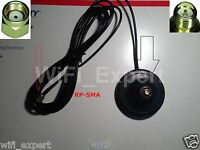 WiFi Antenna Magnetic Base RP-SMA 5 Foot Extension Cable ships from USA