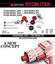 Itek-975 Press Ryobi 3200 Syn Tac Soft Roller Kit 320-K