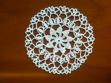 "Crochet Cotton 6"" Coaster/Doily in White Flower Pattern ideal for Dreamcatcher"