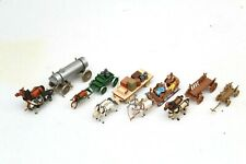 More details for 5 x horse farm wagon carts & sleigh street scene figures set ho gauge 1/87 g21