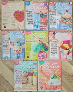 Eight Copies Of Mollie Makes Magazine (Used & Incomplete) - Free P&P Included