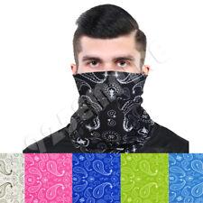 3 Pack Men's Paisley Tube Bandana Face Mask  Neck Gaiter Lot