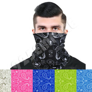 3 Pack Men's Paisley Tube Bandana Face Mask  Neck Gaiter Lot