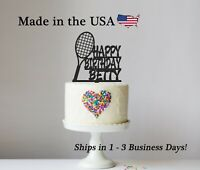 Tennis Birthday Theme, Racquet Sports, Personalized Cake Topper Keepsake, LT1394
