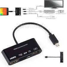 Micro USB OTG SD TF Lector de tarjetas Escritor HUB A HDMI HDTV TV Adaptador