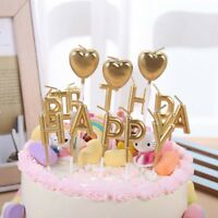 Happy Birthday Candle Party Cake Toppers Decoration Candles Gift Gold Decoration