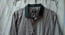 Mens Modern Shirt New Look Checked Blue Red Size Medium