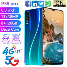 "2020 6.3"" Smart Mobile Cell Phone 8+128GB 4g LTE Android 9.1 13MP+18MP"