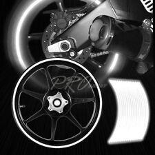 "16/17/18/19"" Reflective Rims Tape/Wheel Rim Decal Stripes Sticker Glowing White"