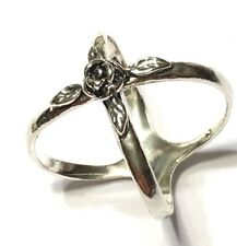 NWOT OR PAZ STERLING SILVER 925 ROSE X- RING SZ 7 MADE IN ISRAEL